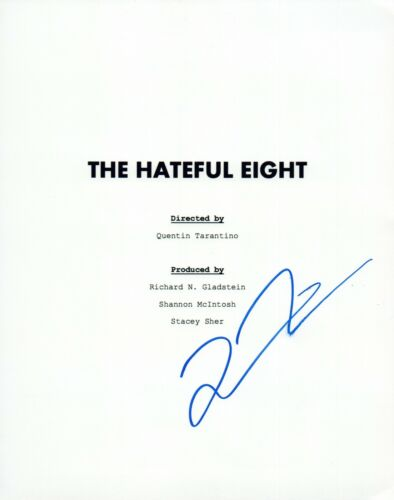Quentin Tarantino Signed Autographed THE HATEFUL EIGHT Full Movie Script COA VD