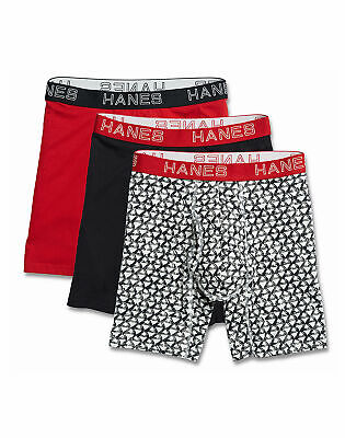 Hanes Boxer Briefs Assorted 3-Pack Ultimate Men's Comfort Fl