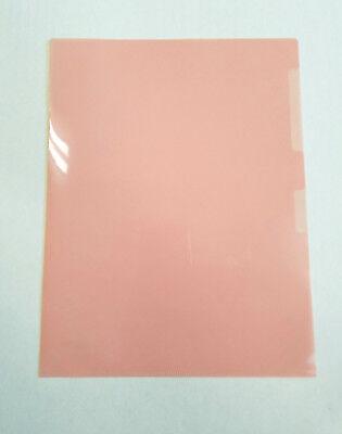 12 pk Plastic Document Folder File US Letter Size L Type - PINK - Plastic Folders