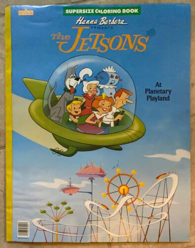 """The Jetsons A Planetary Playground 22"""" Huge Coloring Book NEW Water Damage 1988"""