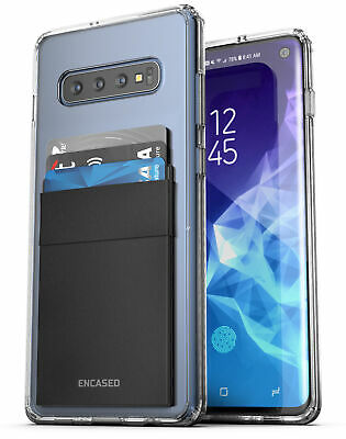 Samsung Galaxy S10 Clear Back Case with Phone Credit Card Ho