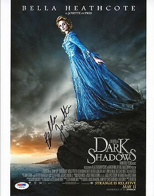 Bella Heathcote Signed 11X14 Photo Psa Dna Coa Dark Shadows Picture Autograph