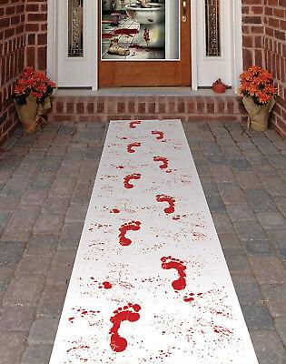Halloween Party Decor Bloody Blood Stained Footprint Carpet Runner Garden Path ()