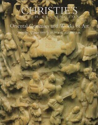 ORIENTAL CERAMICS & WORKS OF ART NETSUKE CLOISSONE JADE AUCTION CATALOGUE