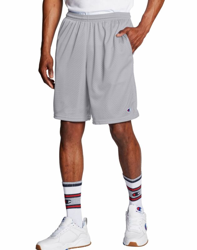 Champion Shorts Pants Pockets Mens Long Mesh Athletic Fit Gym Basketball Workout