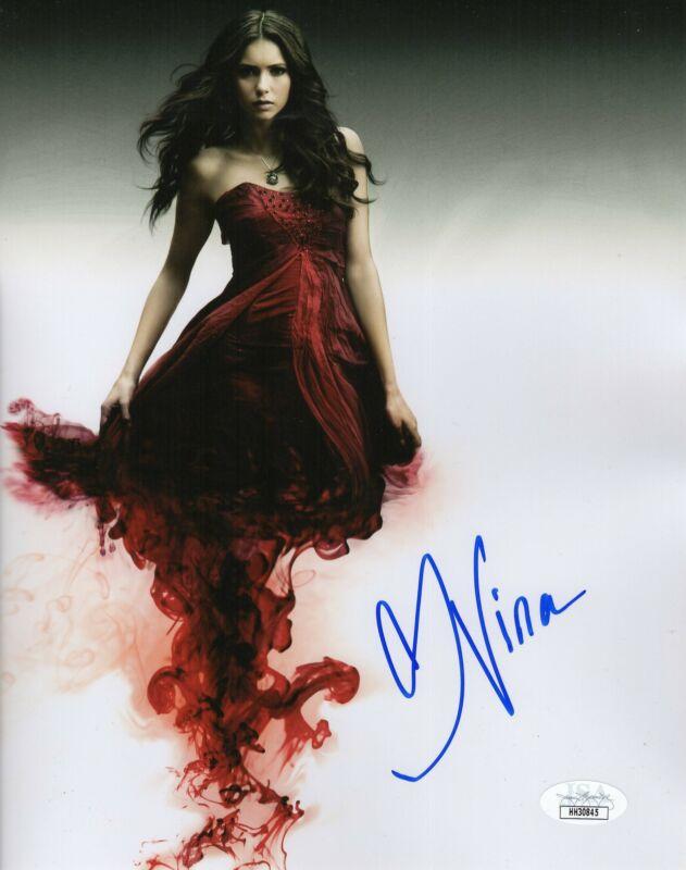 Nina Dobrev Autograph 8x10 Photo The Vampire Diaries Elena Signed JSA COA 4