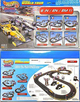 2000 TYCO 440-X2 Pigeon-hole Car FORMULA WORLD TOUR 12' RACE SET BUZZIN Honda & McLaren