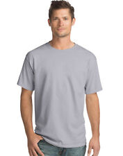 Hanes Men Crew neck T-Shirt 4-Pack ComfortSoft 100% Cotton Heavyweight Tee Plain