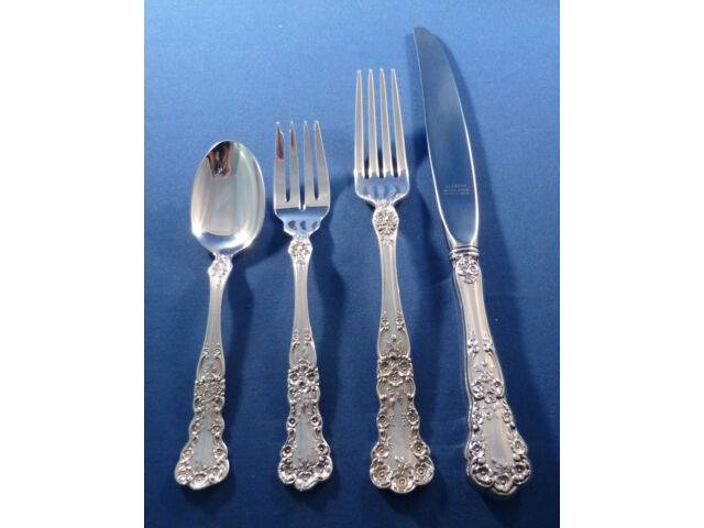 BUTTERCUP-GORHAM STERLING 4 PIECE DINNER SIZE PLACE SETTING(S)-MODERN