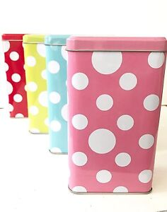 Polka Dot Storage Tins bulk lot great for party loot bags Canning Vale Canning Area Preview