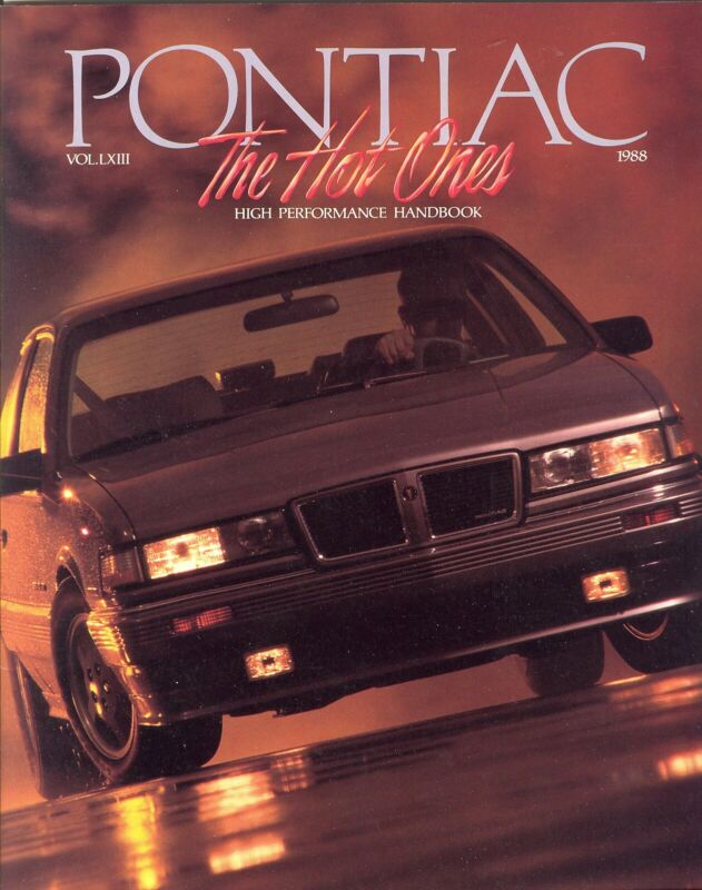 1988 Pontiac High Performance Fiero Firebird Grand AM Grand Prix Sales Brochure