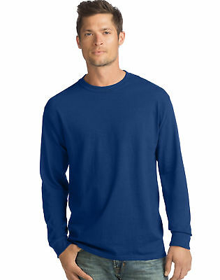 Hanes Long-Sleeve T-Shirt 4-Pack Tee ComfortSoft Men's 100%