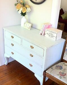 Shabby Chic Distressed Blue Antique Dresser Buffet/Sideboard Bexley Rockdale Area Preview
