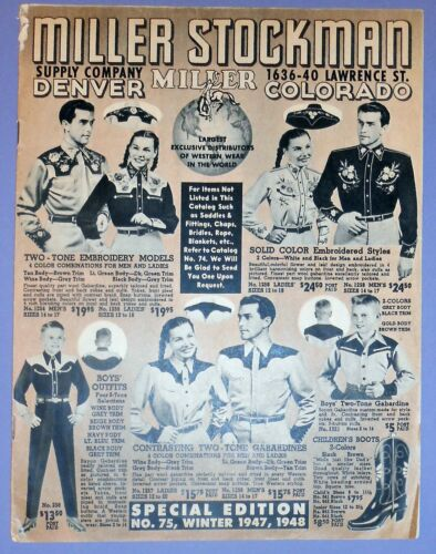 MILLER STOCKMAN SUPPLY CATALOG 1947 – DENVER COLORADO