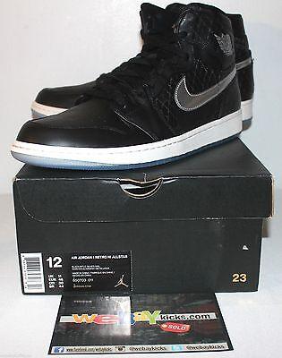 Air Jordan Retro 1 I Passport All Star Black Silver Sneakers Men's Size 12 New