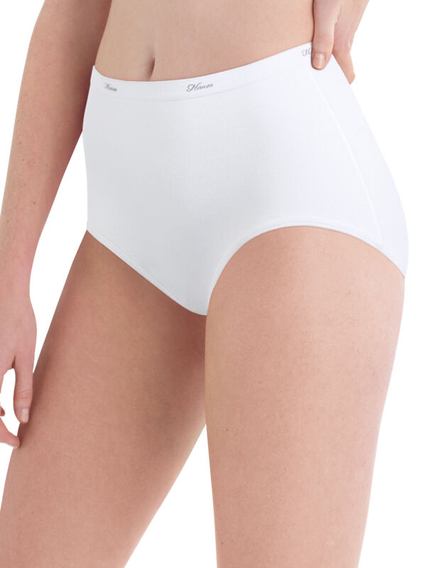 Hanes Womens 10-Pack Cotton Briefs Lady Underwear Panties Assorted Colors Prints