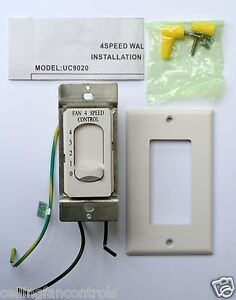 NEW Rhine Ceiling Fan 4-Speed Control Switch MODEL UC9020