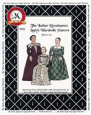 Italian Renaissance Costumes (Italian Renaissance Lady's Wardrobe sizes 2-30 Margo Anderson Sewing Pattern)