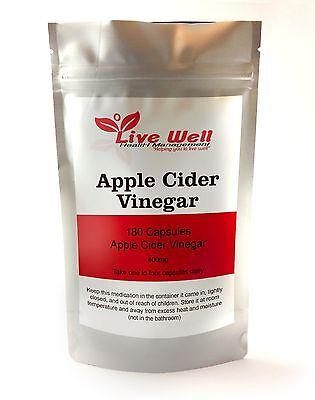 Live Well Aceto Di Sidro di mele pillole, perdita del peso, colesterolo