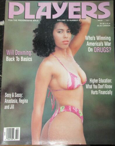PLAYERS VOLUME 18 # 2 VINTAGE AFRICAN AMERICAN COLLECTABLE MAGAZINE