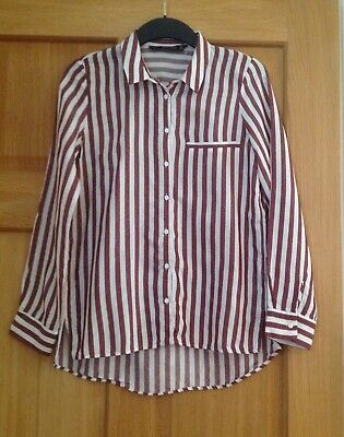 Zara Basic Collection collared striped Shirt size XS