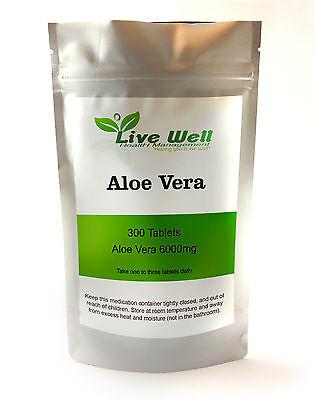 Natürlich Stammend Aloe Vera 6000mg Tabletten für Verdauung Gesundheit