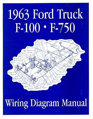 1963 Ford F100-f750 Truck Wiring Manual
