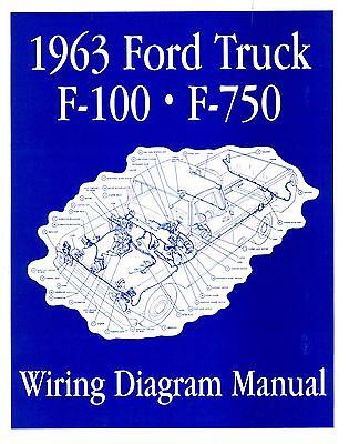 1963 Ford F100-f750 Truck Wiring Manual