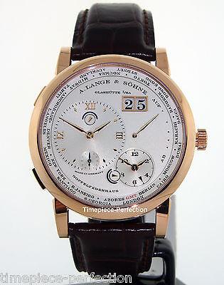 A. Lange & Sohne Lange 1 18kt Rose Gold Time Zone Silver Dial