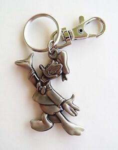 Disney - Donald Duck - Donald Pewter Keychain/Keyring - Backpack Clip