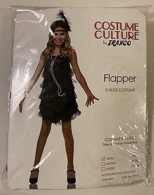 Flapper Child's Costume, Black - Size Small (4-6)](Kids Flapper Costume)