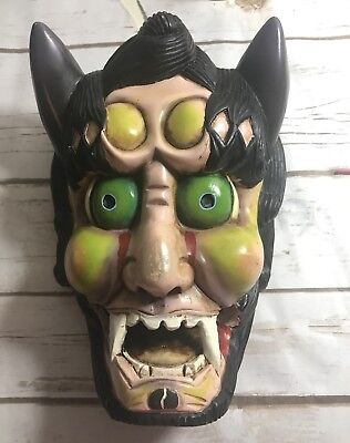 Krampus wall Mask hanging demon horns christmas devil monster goat creepy (Krampus Horns)