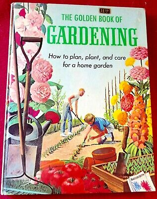 Vintage THE GOLDEN BOOK OF GARDENING Frances Giannoni BOOK 1962 Children