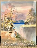 Lady by the Lake Painting  $60 CAD