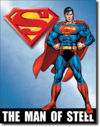 Superman the Man of Steel  Metal Sign Tin New Vintage Style #1337