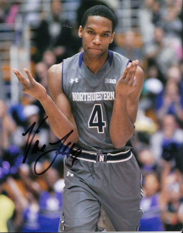 VIC LAW signed (NORTHWESTERN WILDCATS) BASKETBALL 8X10 photo W/COA #1
