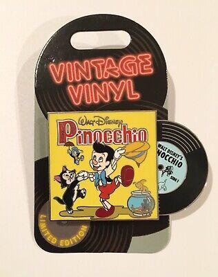 Disney Park Pin of the Month Vintage Vinyl Pin LE 3000 Pinocchio Figaro Cleo