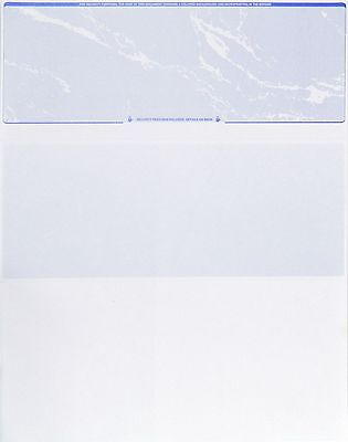Checks  Blank Check Paper Stock Blue Marble Check On Top 100 Count