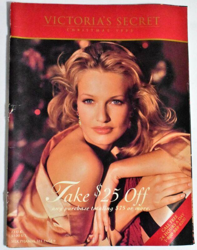 Victoria's Secret Christmas 1993 VS Catalog Karen Mulder