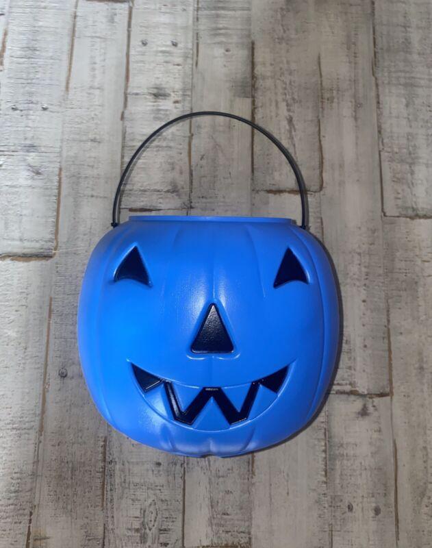 VTG Norfolk Halloween Pumpkin Blow Mold Pail Bucket Jack-O-Lantern Made In USA