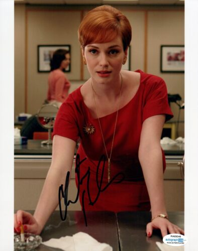 Christina Hendricks Signed Autographed 8x10 Photo MAD MEN Actress ACOA