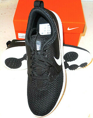 NIKE ROSHE G QUALITY GOLF SHOES UK SIZE 8 BLACK BRAND NEW
