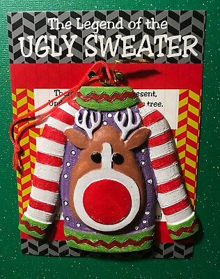 Legend Of The Ugly Christmas Sweater Ornament