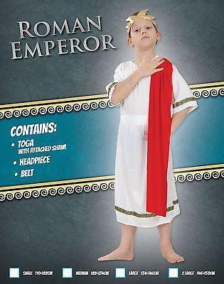 Junge Römischer Kaiser König Toga Cäsar altertümlich Griechisch Kinder (Griechische König Kostüm)