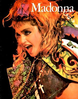 MADONNA 1985 LIKE A VIRGIN TOUR CONCERT PROGRAM BOOK / WITH POSTER