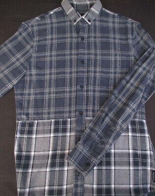 Armani Exchange Mens Button Front Long Sleeve Cotton Plaid Shirt X Small XS