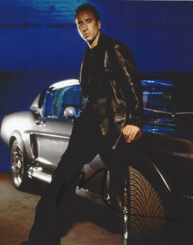 NICOLAS CAGE HAND SIGNED 'GONE IN 60 SECONDS' 8x10 PHOTO C w/COA NIC ACTOR PROOF