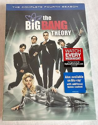 The Big Bang Theory The Complete Fourth Season Dvd 2011 3 Disc Set New Sealed