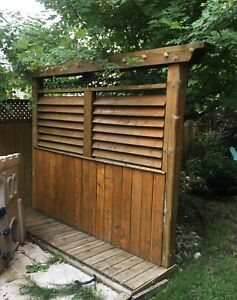 Gorgeous outdoor privacy screen/fence