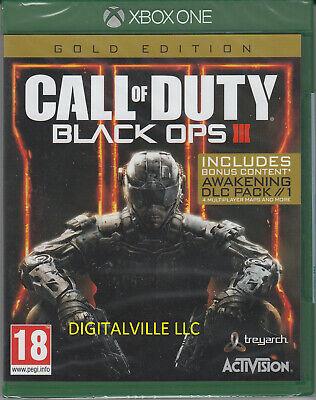 Call of Duty Black Ops 3 III GOLD Xbox One Zombies Awakening 4 multiplayer maps